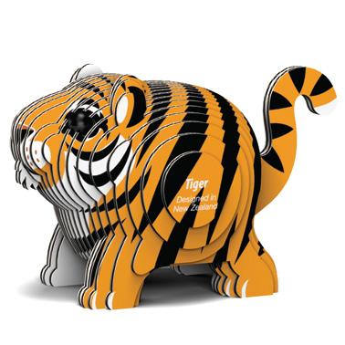 Djur från Dodoland för montering och modellbyggande tiger