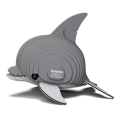 Djur från Dodoland för montering och modellbyggande delfin