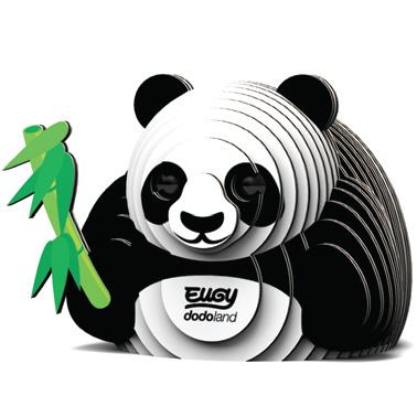 Djur från Dodoland för montering och modellbyggande panda
