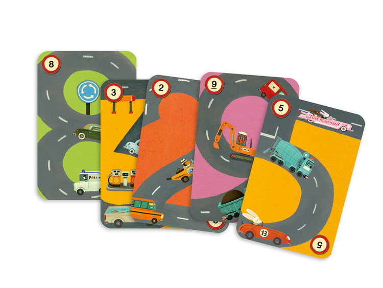 Rallye - Ett pedagogiskt bilspel från Djeco