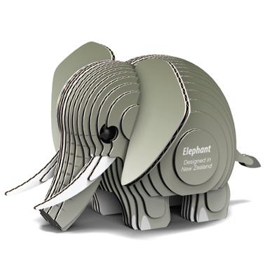 Djur från Dodoland för montering och modellbyggande elefant