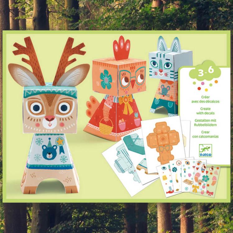 Vika papper - Funny animals Origami från Djeco