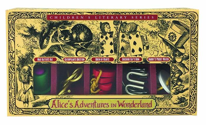 Alice i Underlandet - 5 stycken olika kluriga tankenötter i fin förpackning