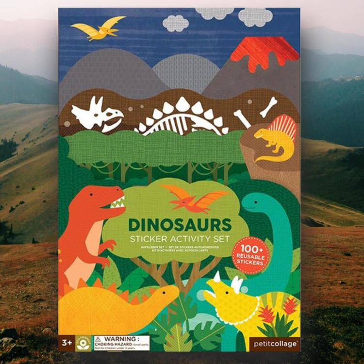 Dinosaurier - Återanvändbara klistermärken