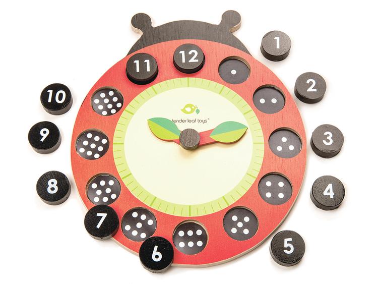 Lär dig klockan 'Nyckelpiga' från Tender Leaf Toys