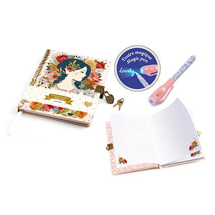 Dagbok med penna med osynlig skrift (Oana)