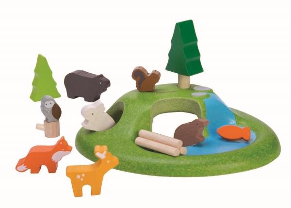 Djur på en kulle från PlanToys