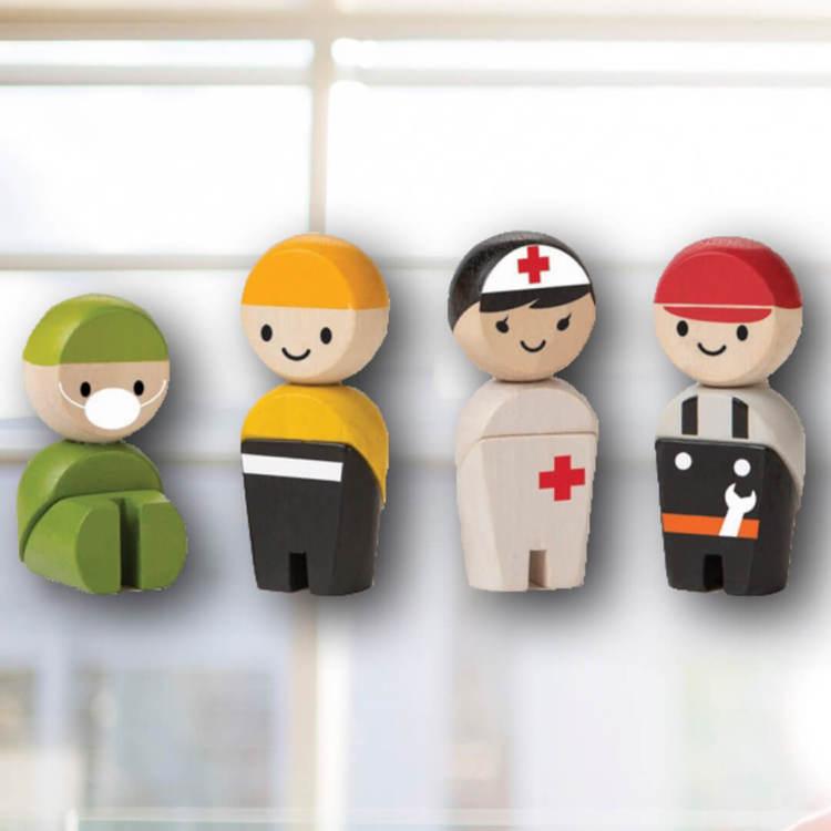 Fina dockor i räddningsteamet från PlanToys