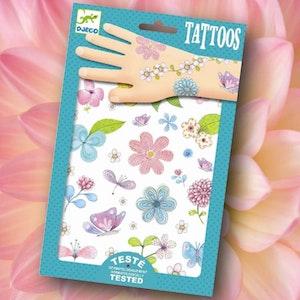 Vackra tatueringar - Blommor och fjärilar