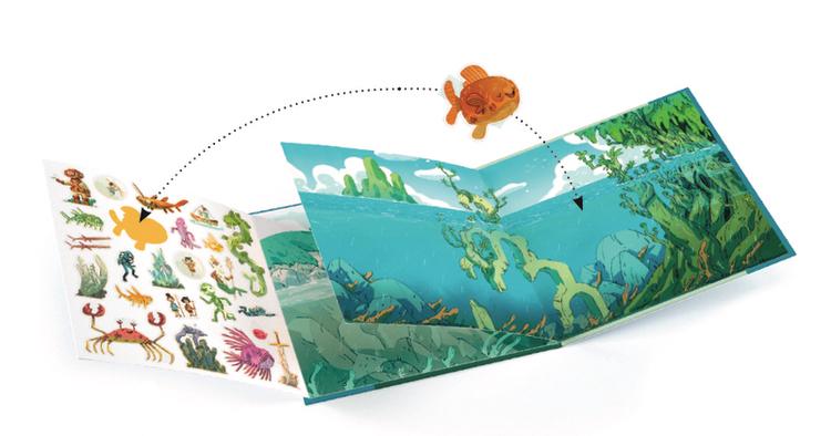 Det farofyllda havet - återanvändbara klistermärken från Djeco