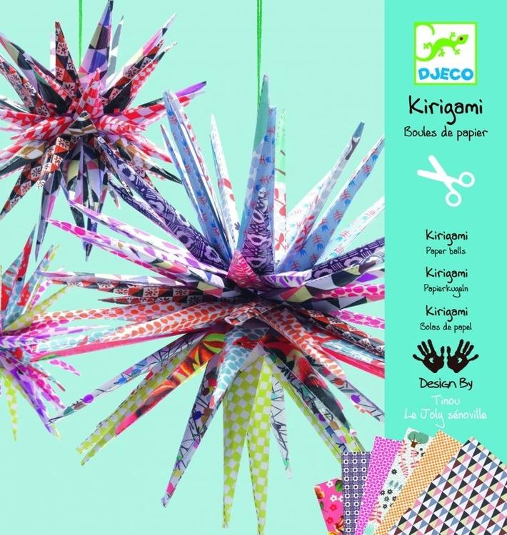 Kirigami eller origami - Vik vackra stjärnor av papper från Djeco