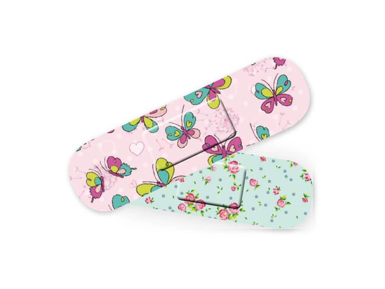 Fina plåster för barn med fjärilar och blommor - Fraktfritt