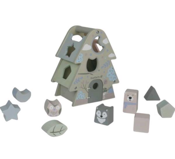 Sorteringslåda från EverEarth som har miljövänliga och giftfria leksaker för de minsta
