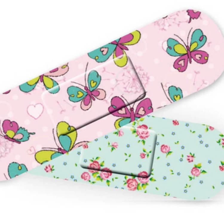 Plåster - Fjärilar & blommor