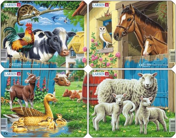 Fina pussel med olika djur (7 bitar)