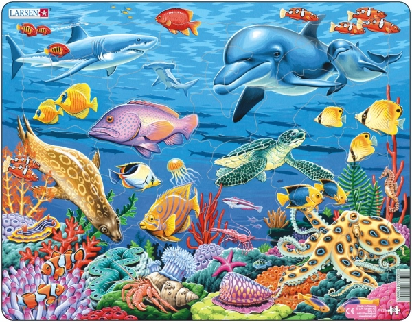 Pussel - Korallrevet (35 bitar)