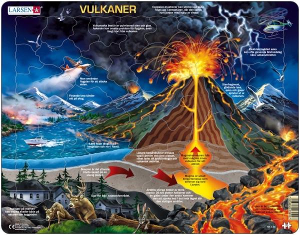Pussel - Vulkaner (70 bitar)