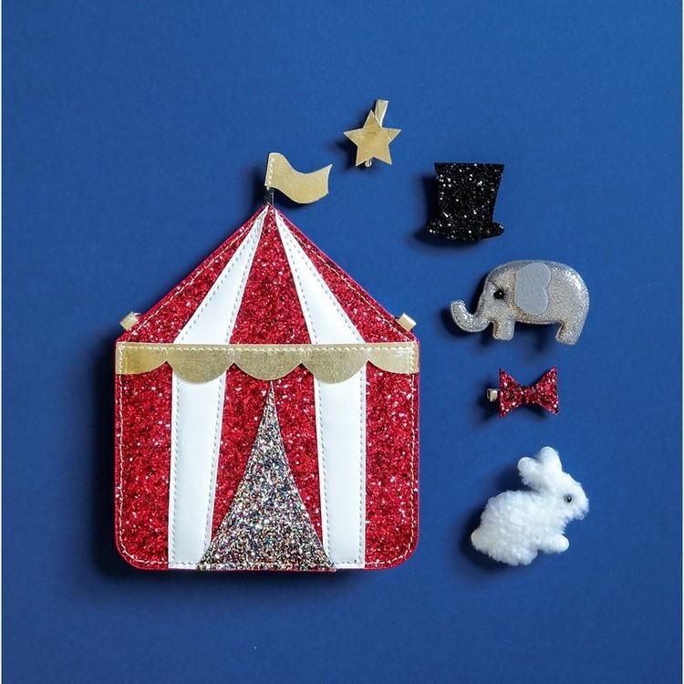 Underbart glittrig väska med cirkusmotiv Mr Humblebees magiska leksaksaffär