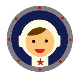 Speldosa med förvaring i form av en astronaut