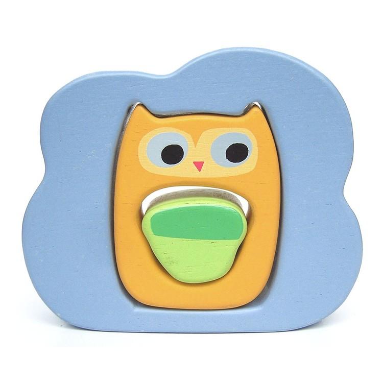 Pussel för de minsta - Ugglan, molnet och ekollonet från Le Toy Van