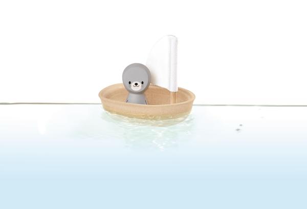 Badleksak - Liten säl i båt från PlanToy