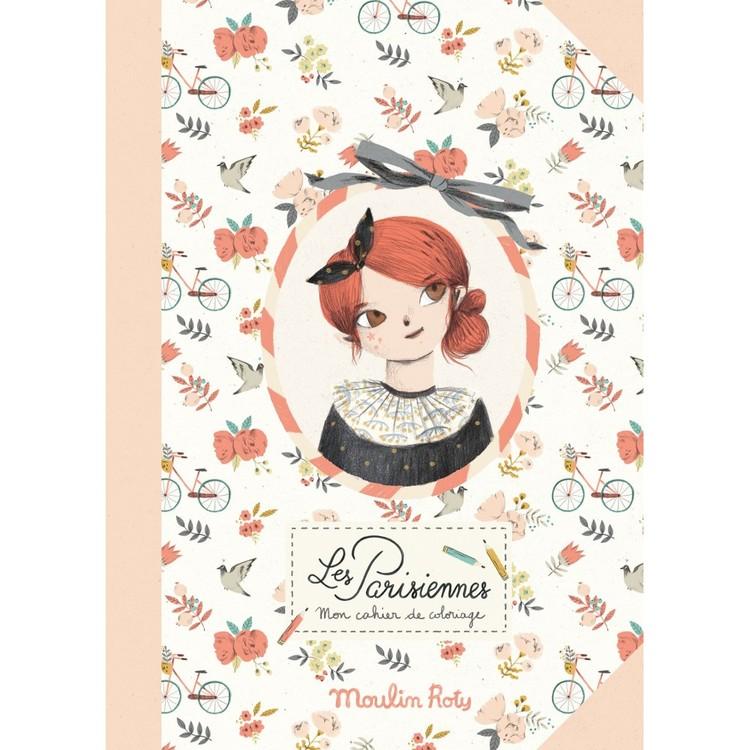 Fin pyssel- och målarbok - 'Les Parisiennes'