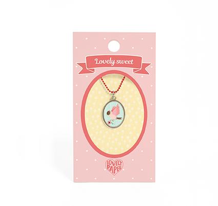 Vackert litet halsband för barn- Fågel