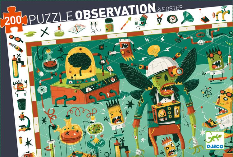 Observationspussel - Den galna professorn  (200 bitar)