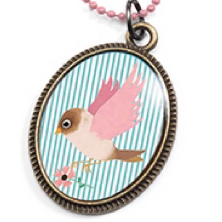 Vackert litet halsband - Fågel (Fraktfritt)