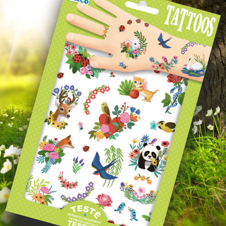 Tatueringar - Happy Spring från Djeco