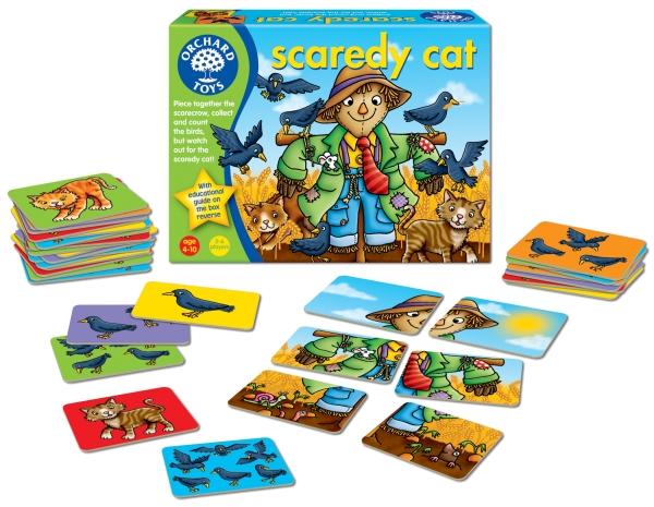 Fågelskrämman - Spelet där du ska akta dig för katten från Orchard Toys