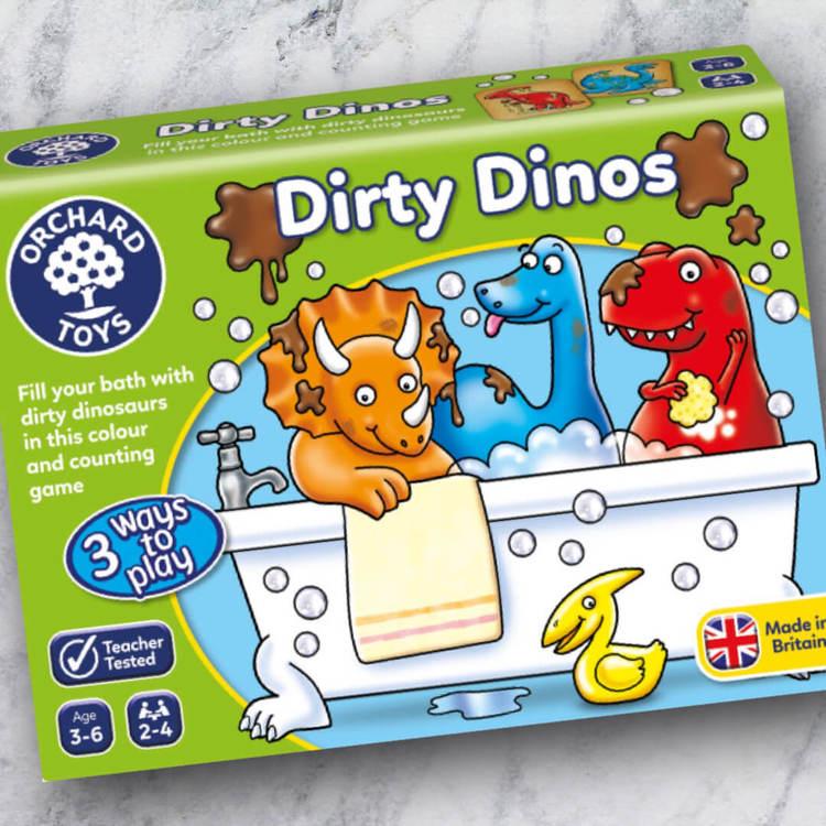 Dirty Dinos - Spelet som lär dig färger och att räkna