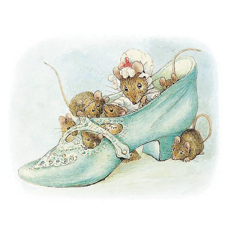 Kort med kuvert - Möss i skorna