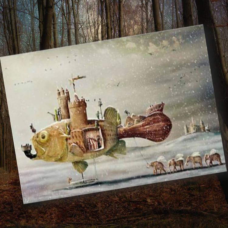 Kort med kuvert - Drömmarnas fisk