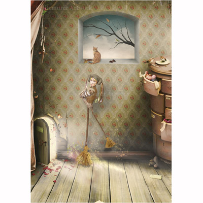 Städpojken - Gratulationskort och kuvert