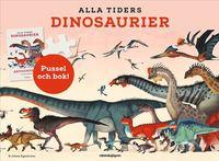 Alla tiders dinosaurier - Aktivitetsbok & Plansch & Pussel (150 bitar)