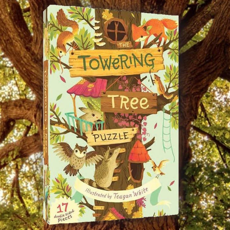 Trädtornet - Ett golvpussel för de mindre barnen (17 stora bitar)