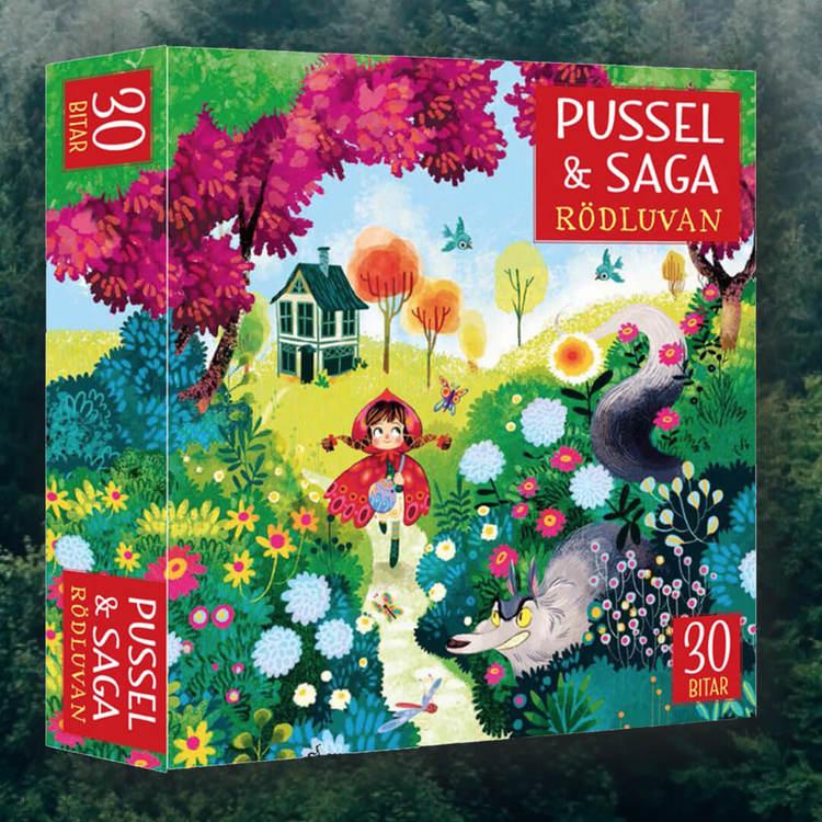 Rödluvan - Pussel (30 bitar) & Saga