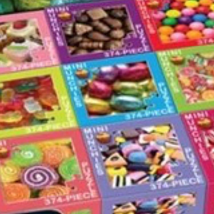 Minipussel - Godis, många olika sorter (375 bitar)