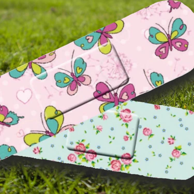 Plåster - Fjärilar & blommor (Fraktfritt)