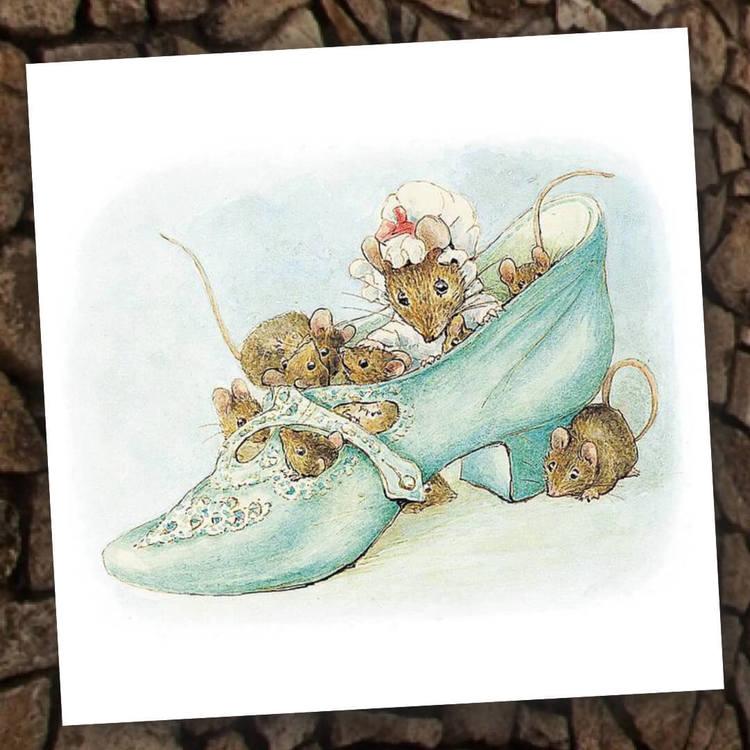 Kort med kuvert - Möss i skorna (Fraktfritt)