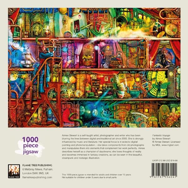 Den förtrollade bokhyllan - Pussel med 1000 bitar
