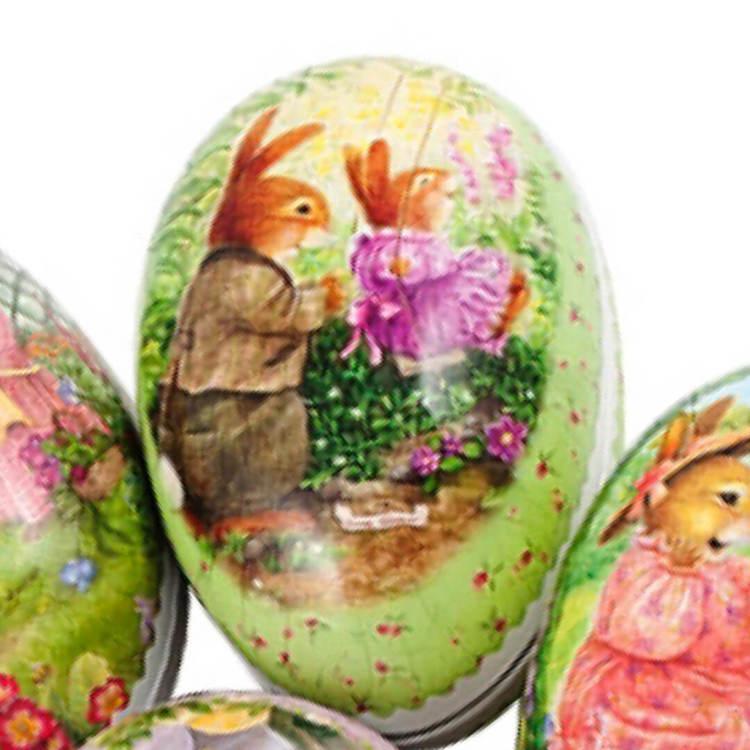 Påskägg - Söta kaniner - 12 cm (6 olika motiv att välja bland)