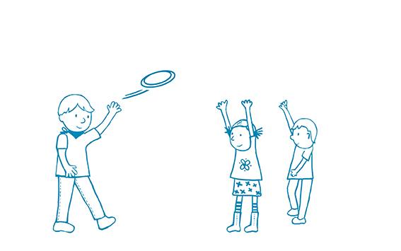 Frisbee, vattentålig i mjukt material - Uggla