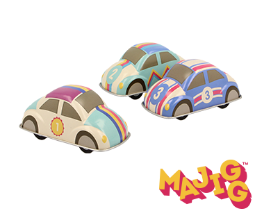 Bilar med retrokänlsa - Drag bak- åk fram (3 olika att välja bland)