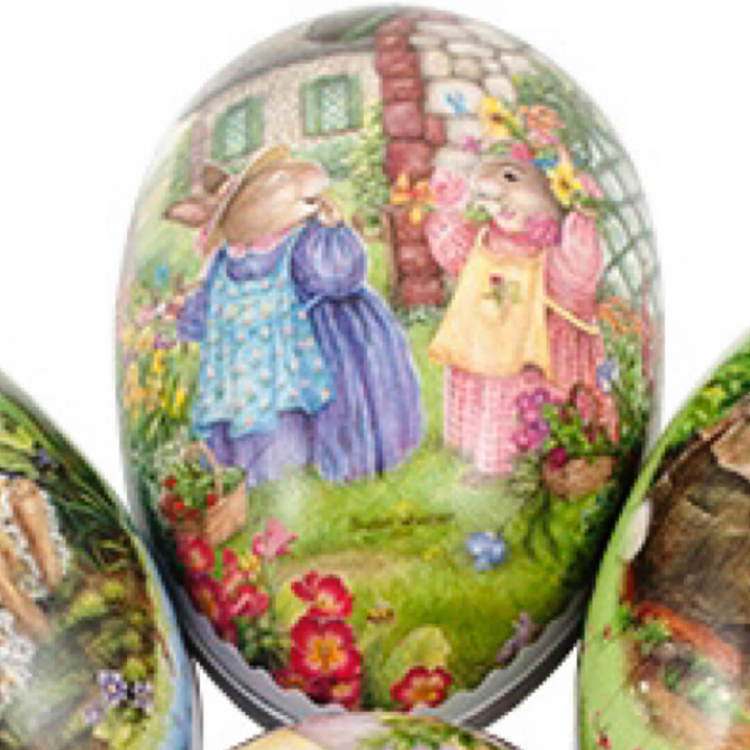 Påskägg - Söta kaniner - 15 cm (6 olika motiv att välja bland)