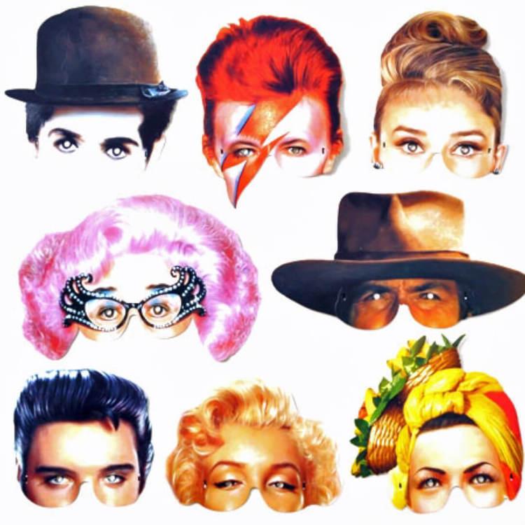 Partymask Idoler från 1900-talet - Välj vem du vill vara