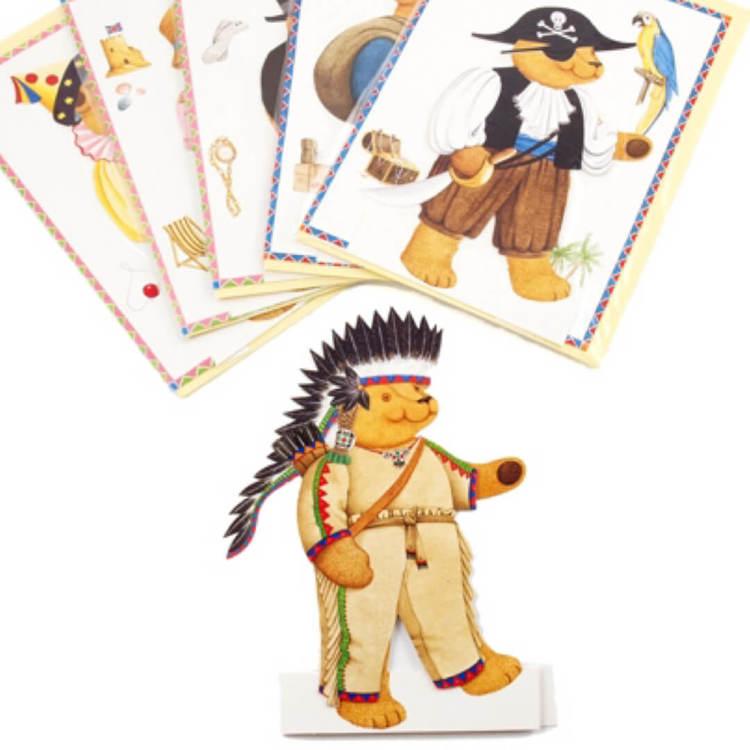 Gratulationskort - Klippdockan Teddy (6 olika varianter att välja bland)