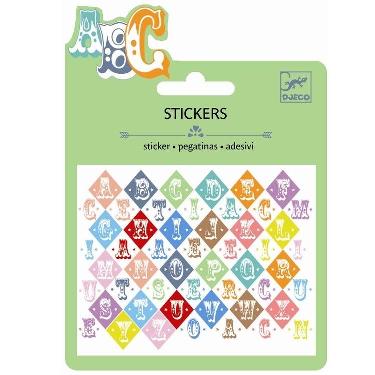 Mini Stickers Metallic - Bokstäver från Djeco