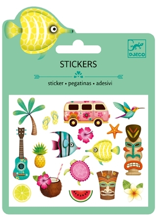 Mini Stickers Puffy - Hawaii från Djeco